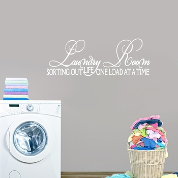 Laundry room sorting out life wall decals