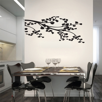 Corner Leafy Branch - Wall Decals