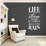Learning To Dance In The Rain - Wall Decals