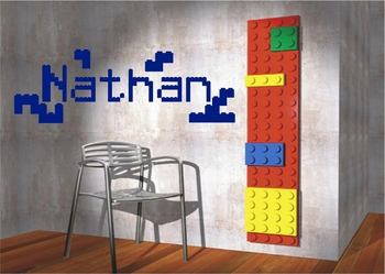 Lego Name Custom Wall Decals