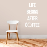 Life Begins After Coffee - Wall Decals