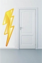 Lightning Bolt School Mascot | Printed Wall Decals