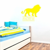 Custom Name Lion - Wall Decals