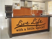 Live Life With A Little Spice | Wall Decals