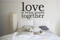 Love is Being Stupid Together | Wall Decals