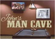 Man Cave Decals