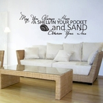 May You Always Have A Shell In Your Pocket | Wall Decals