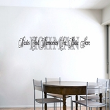 Meals And Memories - Custom Name - Wall Decals