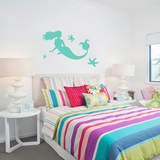 Mermaid and Starfish - Wall Decals