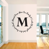 Our Family Custom Monogram - Wall Decals