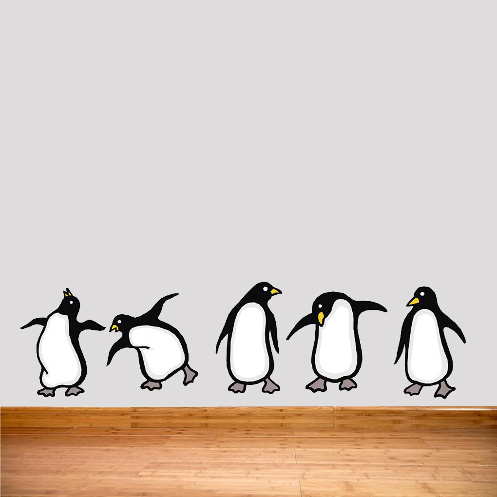 large wall mural penguins on home wall decals by penguins arctic babies wall decal stickers by