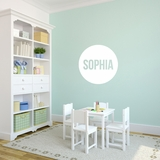 Personalized Circle Name - Wall Decals