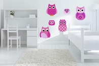 Pink Owls | Printed Wall Decals