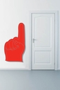 Red and Gray Foam Finger | Printed Wall Decals