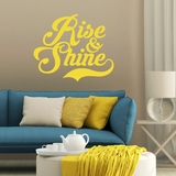 Rise And Shine - Wall Decal