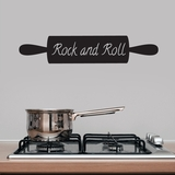 Rock and Roll Rolling Pin - Wall Decals