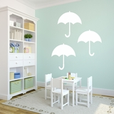 Set of 3 Umbrellas - Wall Decals