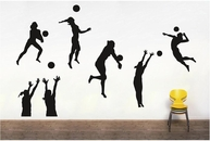 Set of Volleyball Players Silhouettes | Wall Decals