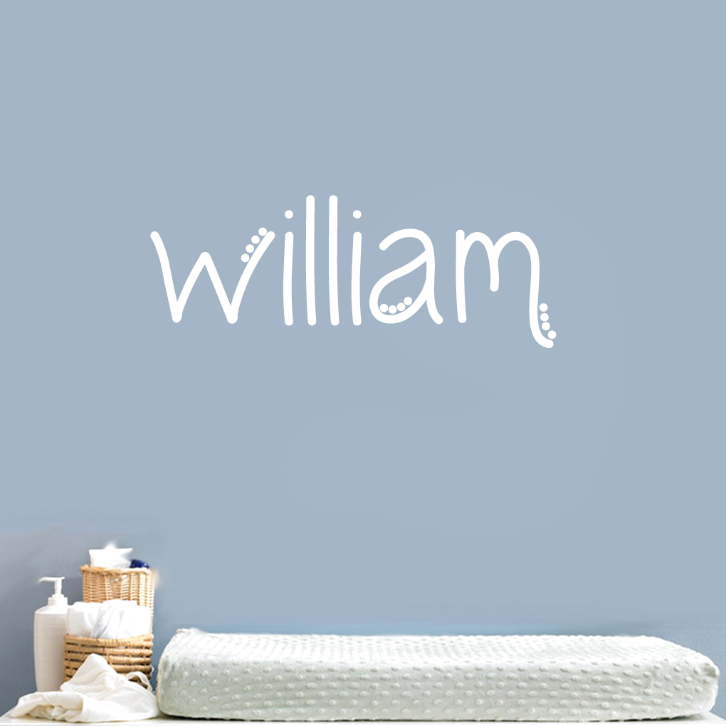 Custom Simple Dot Name - Wall Decals