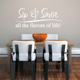 Sip And Savor - Wall Decals