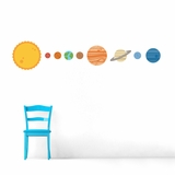 Solar System - Printed Wall Decals