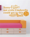 Sorry Princess | Volleyball | Wall Decals