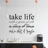 Take Life with a Grain of Salt - Wall Decals