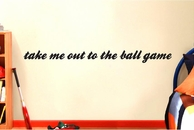 Take Me Out To The Ball Game | Baseball | Wall Decals