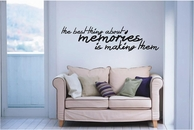 The Best Thing About Memories | Wall Decals