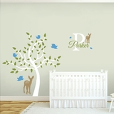 Custom Name Tree Scene - Wall Decals