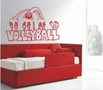 VOLLEYBALL Cartoon Cutout | Wall Decals