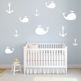 Whales and Anchors | Wall Decals
