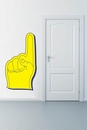 Yellow and Blue Foam Finger | Printed Wall Decals