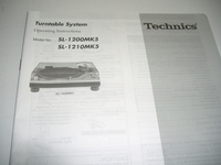 Technics Operating Instructions