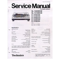 Technics Service Manuals for SL1200 Series