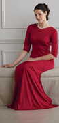 """Brise Dress""<br>3/4 Sleeve Knit  Dress for Choir and Orchestra Members"