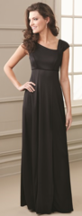 "Cap and Accented Pleated Sleeve ""Kristen"" Dress"