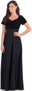 Sparkle Wave Velvet Bodice<br>Evelyn Dress