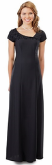 Flocked Asymmetrical NeckLine (Lillian) Dress