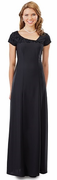 Lillian<br>Flocked Asymmetrical NeckLine Dress