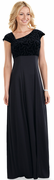Asymmetrical Sparkle wave Velvet<br>Sadie Dress