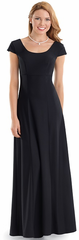 Scoop Neck Cap Sleeve (Laurel ) Dress