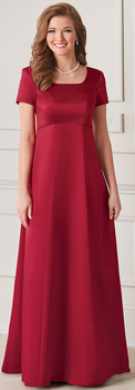 Chorale<br>Scoop Neck Modest Concert Dresses
