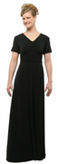 Short Sleeve Knit Cummerbund Dress for Orchestra & Choir