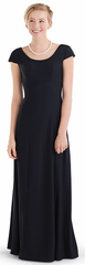 Youth Crepe Cap Sleeve Scoop Neck (Laurel) Dress