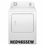 AMANA 6.5 CU. FT. Dryer NED4655EW WITH Automatic Dryness Control & WRINKLE PREVENT OPTION