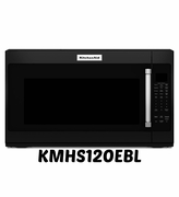 Black Kitchenaid Microwave KMHS120EBL with 7 Sensor Functions 1000-Watt 30 inch