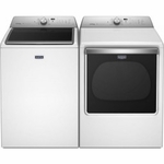 Combo Pair Laundry Maytag Top Load Washer MVWB855DW Large Capacity Washer Maytag Dryer Extra-Large Capacity Dryer MEDB855DW