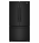 Counter Depth French Door Whirlpool Refrigerator with Temperature-Controlled Full-Width Pantry - 20 cu. ft.36-inch Wide WRF540CWBB