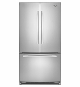 Counter Depth French Door Whirlpool Refrigerator with Temperature-Controlled Full-Width Pantry - 20 cu. ft.36-inch Wide WRF540CWBM